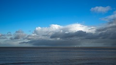 Essex Coast (Future-Echoes) Tags: 4star 2013 boats cloud coast essex horizon northsea sea waltononthenaze