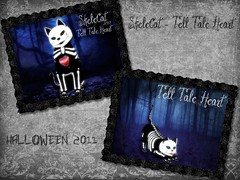 flicker tell tale heart (Sonix_Andretti) Tags: skelecat kittycats tell tale heart rare special collecton helloween