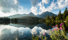 Reflection (-Michal Slezak-) Tags: slovakia landscape nature sky light sunlight sun lake strbskiepleso vysoketatry mountains tatra clouds colours nikon d610 20mm fixedfocal primelens prime przyroda nikkor fixed wideangle reflection mirror