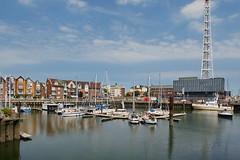 Cuxhaven (antje whv) Tags: cuxhaven stadtansichten häuser houses hafen port boote boats