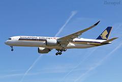 F-WZHE Airbus A350 Singapore (@Eurospot) Tags: airbus a350 a350900 singaporeairlines ulr toulouse blagnac 9vsgb