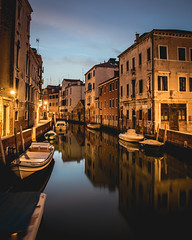 Venice at night, calmed and beautiful! (photography.freddy) Tags: venice italy europe water reflection night travel houses lights bluehour