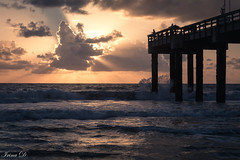 Dawn of a new week (Irina1010) Tags: sunrise atlantic saintaugustine beach pier sky clouds light indiansummer reflections waves water beautiful canon nature autumn outstandingromanianphotographers