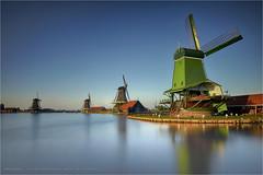Zaanse Schans (Marijke M2011) Tags: windmills sunset zaandam zaanseschans landscape thenetherlands tourism skyline canoneos5dmarkii marijkemooyphotography le lee leefilters bigstopper