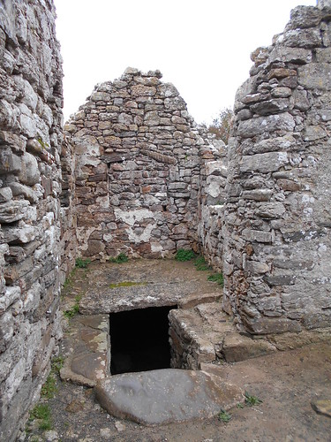 Hen Capel Lligwy, Anglesey. Entrance to the crypt.