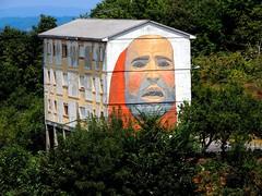 <Mural> Castro Caldelas (Orense) (sebastiánaguilar) Tags: 2018 castrocaldelas galicia españa paisajeurbano