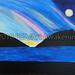 """Blue Night"" by Khwala Z, acrylic, $150.00"