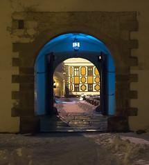 Varaždin Old town fort (davormalnar) Tags: varaždin croatia oldtown oldcity old fort tower bridge stancic winter snow blue yellow