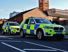 BMW X5 Police Demonstrators (Armed Response Vehicles), Birmingham City Centre. (Vinnyman1) Tags: west midlands police armed response vehicle mw x5 demonstrator birmingham arv firearms afo authorised officer emergency services service rescue 999 england uk united kingdom gb great britain operation pelkin prime minister conservative party conference tory tories 2018