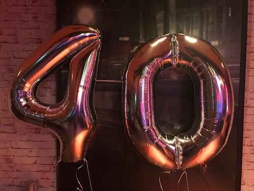 Folieballon Cijfer 40 La France Oegstgeest