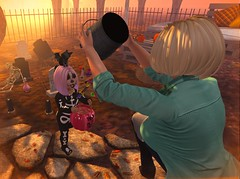 Skully (Serena Reins) Tags: confession photography pose poses secondlife second life baby serena halloween 2018 skeleton costume cute adorable kids toddleedoo cutie bytes mesh emarie candy bucket trick or treat neighborhood black bantam vampire kitty lock tuft hair