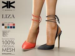 Liza :: Woman Shoes :: 10 Colors ({kokoia}) Tags: liza kokoia stilettos shoes heel shoe avatar sandals summer maitreya slink belleza tmp themeshproject eve high night zapatos tacones heels secondlife second life 3d mesh