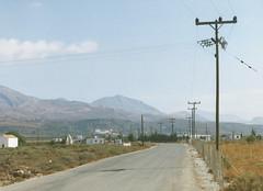 The Road near Frango Kastello (J_Piks) Tags: 1998 greece ellada kriti crete road telegraphpoles
