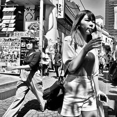 harajuku, japan (michaelalvis) Tags: asia bw blackandwhite buildings candid city citylife fujifilm harajuku japan japanese japon japanesesigns monochrome nihon nippon peoplestreet portrait people peoplestreets streetphotography streetlife street signs travel tokyo urban food women woman x70