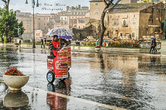 Rome (Clem Mason) Tags: rome rain downpour fujixt2 clemmason 2018 october ngc umbrella