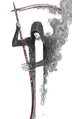 16-reaper (PhantomRin) Tags: inktober inktober2018 reaper scythe shadow smoke hoodie art illustration original phantomrin