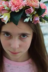 Flowercrown for a princess (larakitten27) Tags: nikon d5300 50mm daughter flowers flower flowercrown crown pink soft dreamy girl brick mono