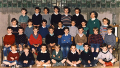 Class photo (theirhistory) Tags: boy children kids jumper jacket shirt shoes wellies shorts boots