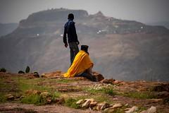 Orthodox Monk (Rod Waddington) Tags: africa african afrique afrika äthiopien ethiopia ethiopian ethnic etiopia ethnicity ethiopie etiopian tigray debradamo debra damo orthodox priest boy landscape christianity christian coptic rocks mountain monastery monk culture cultural candid