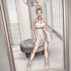 Mirror, mirror on the wall... (Trixie Pinelli) Tags: justbecause aulovely breathe thearcade gacha amias cosmopolitan tableauvivant semotion foxcity mirror elegance hautecouture mesh apparel fashion clothing shopping heels shoes footwear belleza isis greer bento photography photobooth backdrop model modeling blonde blogger lumipro animation pose sl secondlife