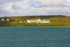 The Grand Hotel in Fall Color (knutsonrick) Tags: grandhotel island mackinacisland michigan frontporch fallcolors historichotel straitsofmackinac