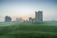 Knowlton Church mist (Anthony White) Tags: england unitedkingdom gb abandoned knowlton gree mist sunrise nopeople dorset dorsetuk sony ilce7rm2