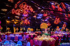 Party at Villa Triboli (GBAudio Service) Tags: gbaudio triboli corvino party lighting lights event wedding marquee dinner red rings cena spot