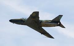 "Swedish Saab J-32B ""Lansen"" 'SE-RMD' @ LKMT (stecker.rene) Tags: swedishairforce swedish airforce historic flight sermd saab j32b lansen j32 cn32542 lkmt mošnov ostrava morava osr czech republic natodays 2018 natodays2018 fighterjet military jet aircraft vintage aerialdisplay flyingdisplay airshow canon eos7d markii tamron 150600mm blue sky flypast flying flaps"