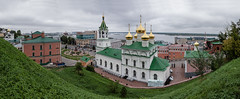 Church of St. John the Baptist. (Oleg.A) Tags: grass autumn nizhnynovgorod church nature city cityscape viewpoint clouds morning tower orthodox roof style cross volga landscape russia cloudy gold oka town exterior colorful old ancient dome cathedral building street sky green design outdoor overcast architecture