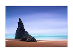 Wizarsd hat (andreassofus) Tags: bandon bandonbeach oregon america usa westcoast coastline seaside seascape oceacnscape water rock rocks rockformation hat wizard wizardshat sand beach horizon longexposure fineart fineartphotography sky clouds waves travel travelphotography outdoor nopeople canon manfrotto summer summertime evening