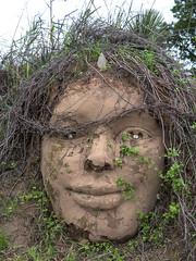 Earth Face by Joaquin Cortez (joncutrer) Tags: mud sculpture art llano texas outdoorart face woman motherearth