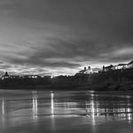 Night has fallen at the California coast thumbnail