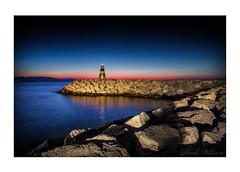 Benalmadena Marina Lighthouse (Deek Wilson) Tags: benalmadena marina lighthouse sunrise costadelsol mediterraneansea seascape