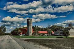 September Sky (gabi-h) Tags: clouds road sky barn quintewest rural september autumn gabih farm white blue fall horizon hastingscounty