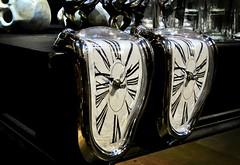 Time is Slipping Away (Bennilover) Tags: halloween sliding watches watch clocks strange eerie spooky skull rogersgardens fun slide dali