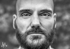 Ben Heine Portrait (Ben Heine) Tags: benheineportrait portrait benheine face visage expression expressive eyes beard barbe barbu hair nose mouth