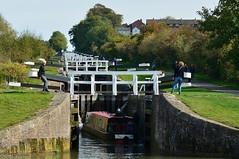 The first lock (Edmund Shaw) Tags: locks flightoflocks canal barge longboat countryside leisure work kennetandavoncanal wiltshire autumn caenhill