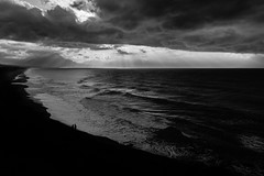 Not every day is a sunny day (tom.leuzi) Tags: bw canoneos6d himmel italia italien italy landschaft meer sicilia sicily sizilien strand tamronsp2470mmf28divcusd wasser wolken beach blackandwhite clouds landscape monochrome schwarzweiss sea sky water