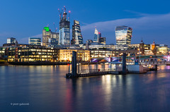 Unfinished Business (pietkagab) Tags: london city business architecture buildings building modern sky skyline skyscrapers blue bluehour evening night twilight water river thames reflection reflections pietkagab photography pentax pentaxk5ii piotrgaborek endland english uk britain travel trip tourism sightseeing europe european