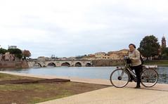 Rimini ponte Tiberio bici (berightbackblog) Tags: rimini romagna emiliaromagna italia italy mare streetart