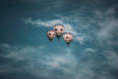 Carry me home (Ans van de Sluis) Tags: 2018 ansvandesluis nijmegen airballoon autumn bluesky clouds colours dreamy gasbag nature sky sunset surreal art fineart painterly