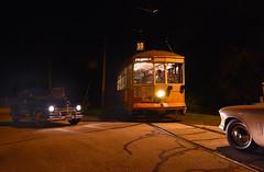 Nachtelijke noodremming (Marco Moerland) Tags: 846 milwaukee electric railway light company night dark evening nachtopname avond noodremming emergency brake braking notbremsung milwaukeeelectricrailwaylightcompany stlouiscarco east troy railroad museum crossing level overweg kruising wegkruising tram trams tramway bonde eléctrico raitioliikenne sporvei sporvogn spårväg streetcar tramm tramvaiul trolley tramvay tramwaj villamos tramwaje tranvia trikk трамвай strasenbahn strasenbahnen strassenbahn strassenbahnen tramways tramvie tranvias trolleys eléctricos auto car wagen studebaker plymouth autos oldtimer oldtimers voiture
