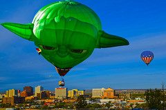Yoda Lady Whooo (oybay©) Tags: yoda starwars albuquerqueballoonfestival albuquerque newmexico balloon balloonfestival festival somethingelse color colors colorful vibrant hotairballoons sky blue best bestshot beach people park field grass landscape 2018 animal bear