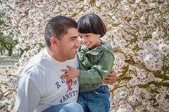My Dad And I (Berenice Calderón) Tags: almondfield fatherandson flowers happyfamily immortalizingmoments spring bonding prouddad son parent