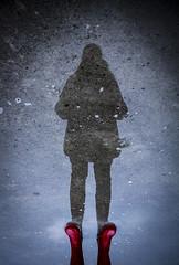 Parallel World (CoolMcFlash) Tags: person woman puddle reflection wet water silhouette red boots frau pfütze spiegelung nas rain wasser kontur rot stiefel regen fotografie photography canon eos 60d tamron a007 2470