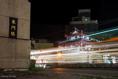 DSC_9070-6 (Jimmy Wang Q) Tags: 新竹 圓環 車軌 夜拍 夜鋪 東門橋