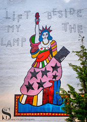 Art on The Highline I left my Lamp beside the Golden Door-2 (Singing With Light) Tags: 2018 7th a7iii highline mirrorless nyc singingwithlight sonya7iii august morning photography signs singingwithlightphotography sony