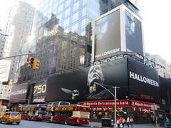 Halloween 2018 Movie Billboard 3135 (Brechtbug) Tags: halloween 2018 movie billboard horror film billboards nyc 10202018 new york city michael myers jamie lee curtis judith john carpenters no dr samuel sam loomis doctor adventure holiday 7th ave avenue 50th st street standee monster killer knife slasher 1978 was original 40 years ago