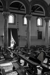 Snoozing In Church (evans.photo) Tags: venice murano church people candid sleeping