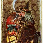 Halloween - Witch at Hearth, 1921 thumbnail